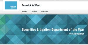 Fenwick & West LinkedIn Company Graphic